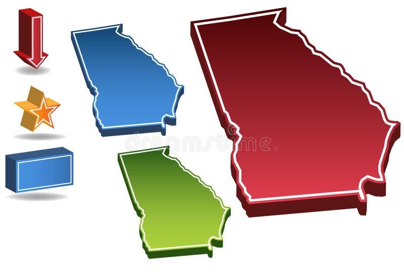 3D Georgië stock illustratie