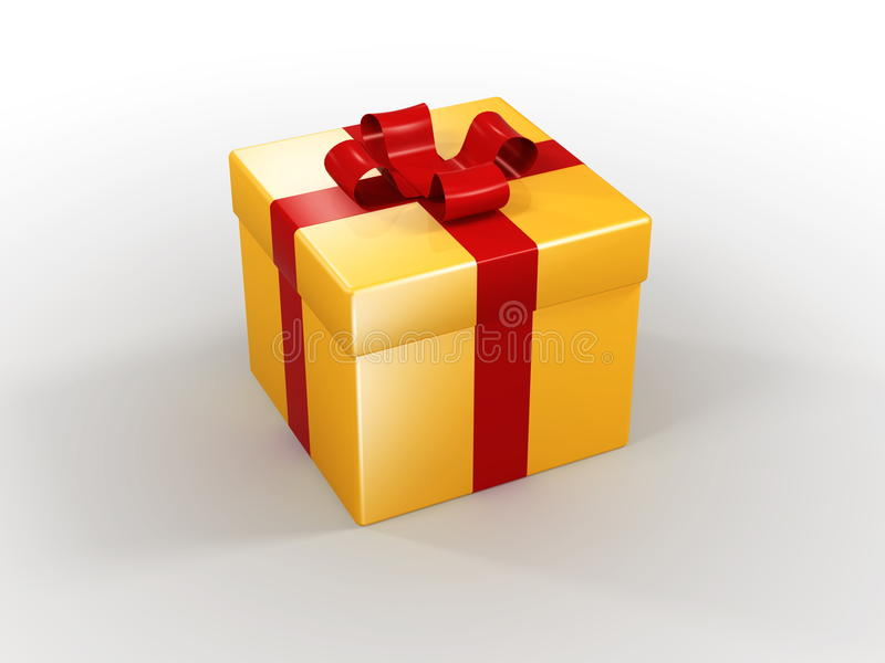 3d - gift box. 3D detailed illustration of a gift box vector illustration