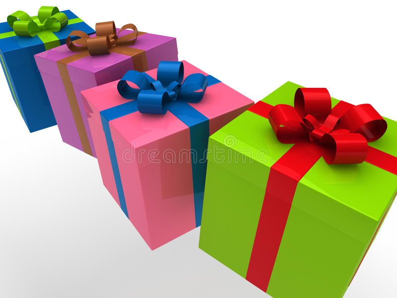 Download 3d gift box stock illustration. Image of green, card - 20758502