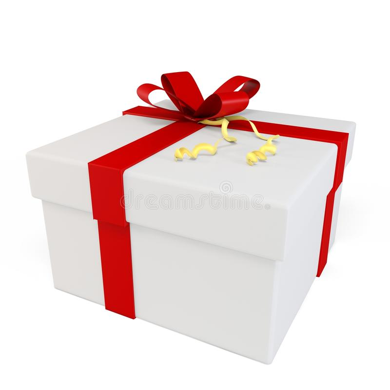 Download 3d gift box with red bow stock illustration. Image of object - 26379908