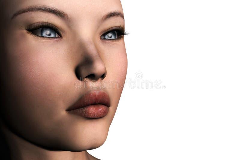 3D Girl stock photo