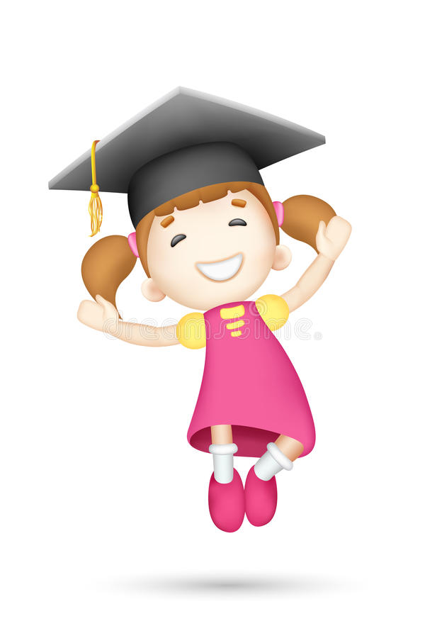 Download 3d Girl With Mortar Board Stock Image - Image: 25596201