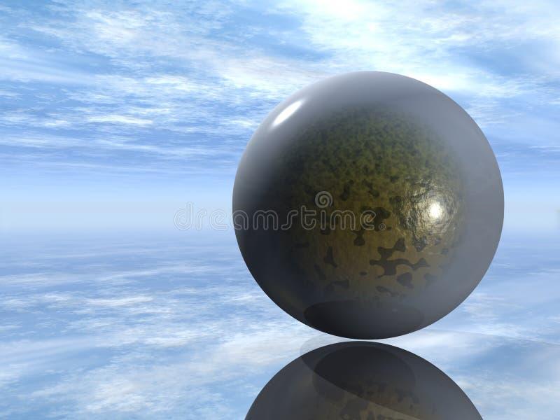 3D glass sphere vector illustration