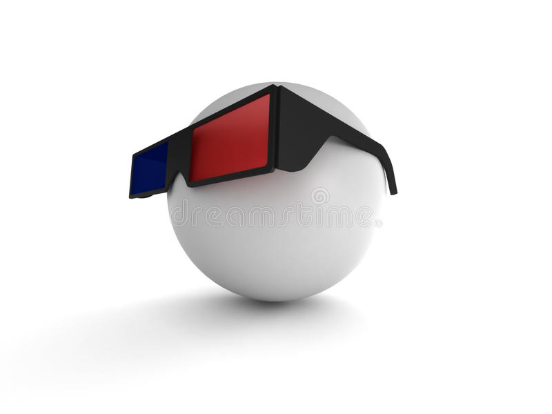 Download 3d glasses stock illustration. Illustration of looking - 14861778