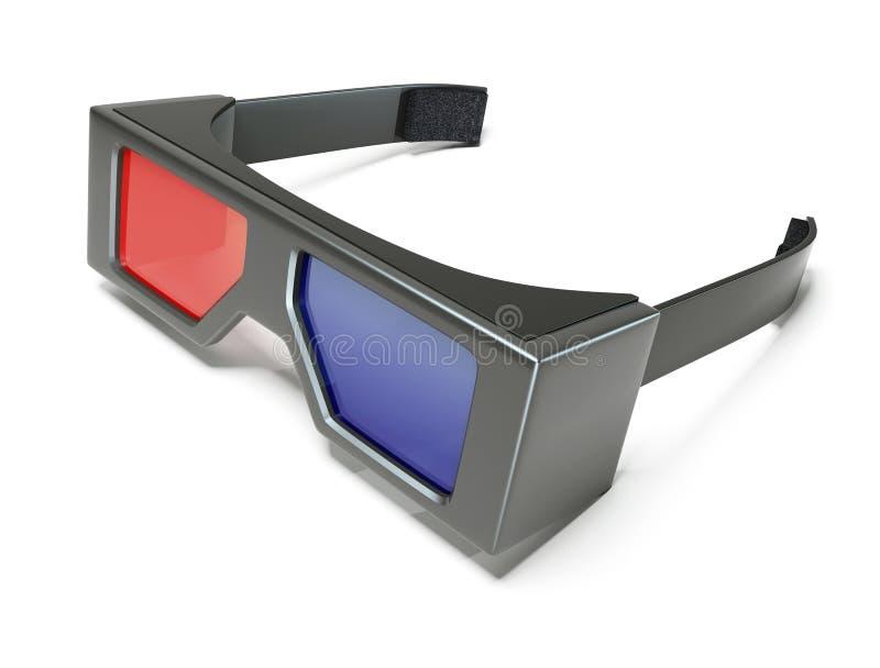 Download 3d glasses stock illustration. Image of blue, show, black - 17596175