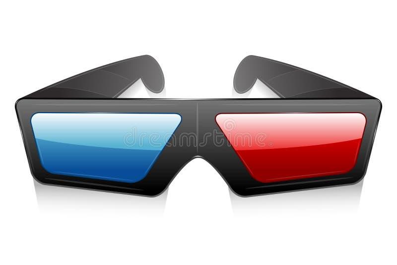 3d Glasses stock illustration