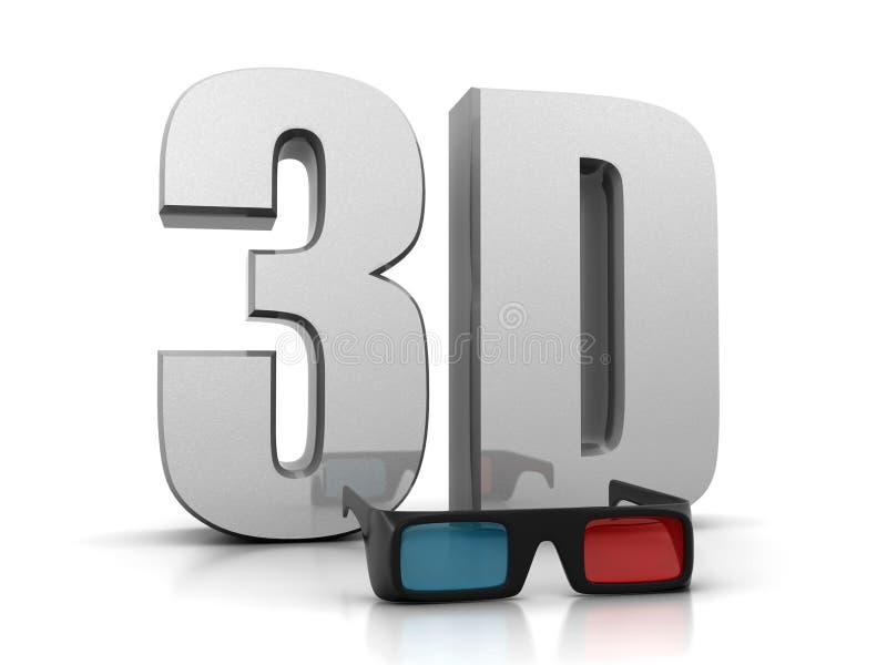 Download 3d glasses stock illustration. Image of illusion, vision - 23585814