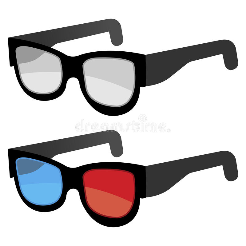 3D Glasses Royalty Free Stock Image