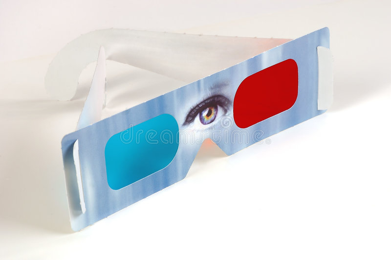 3D Glasses royalty free stock images
