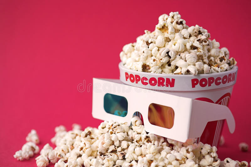 Download 3D Glasses & A Bucket Of Popcorn Stock Image - Image: 13106257