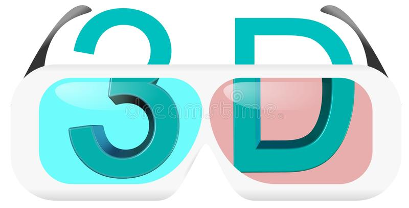 Download 3D Glasses Concept stock illustration. Illustration of icon - 20252273