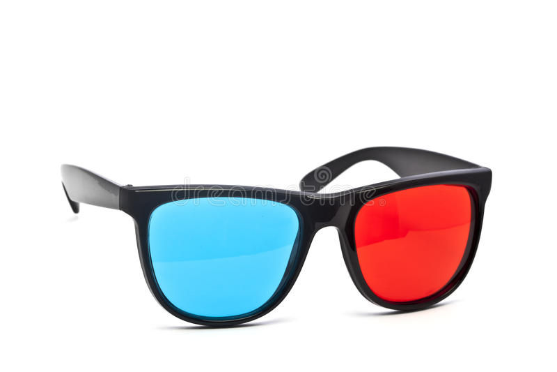 3D Glasses on White Background stock images