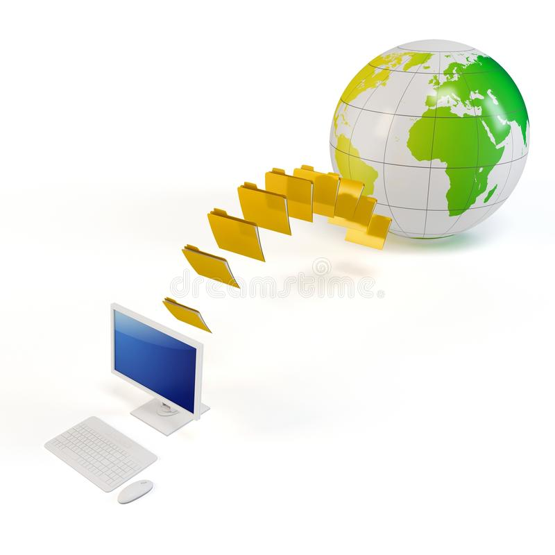 Download 3d Global File Transfer Concept Stock Illustration - Image: 21337827