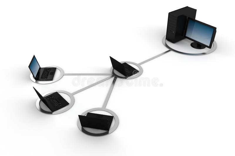 Download 3d Global Network, Concept, On White Royalty Free Stock Image - Image: 18649626