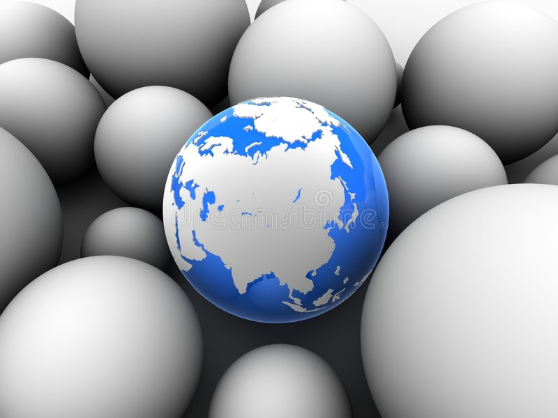 3d globe royalty free illustration
