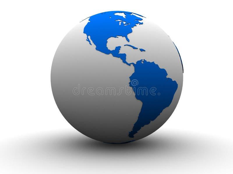 3d globe stock illustration
