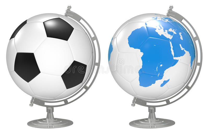 Download 3d The Globe With 3D Soccer Balls Stock Illustration - Image: 13748683