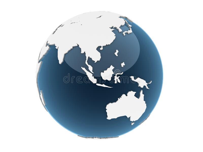3d globe vector illustration
