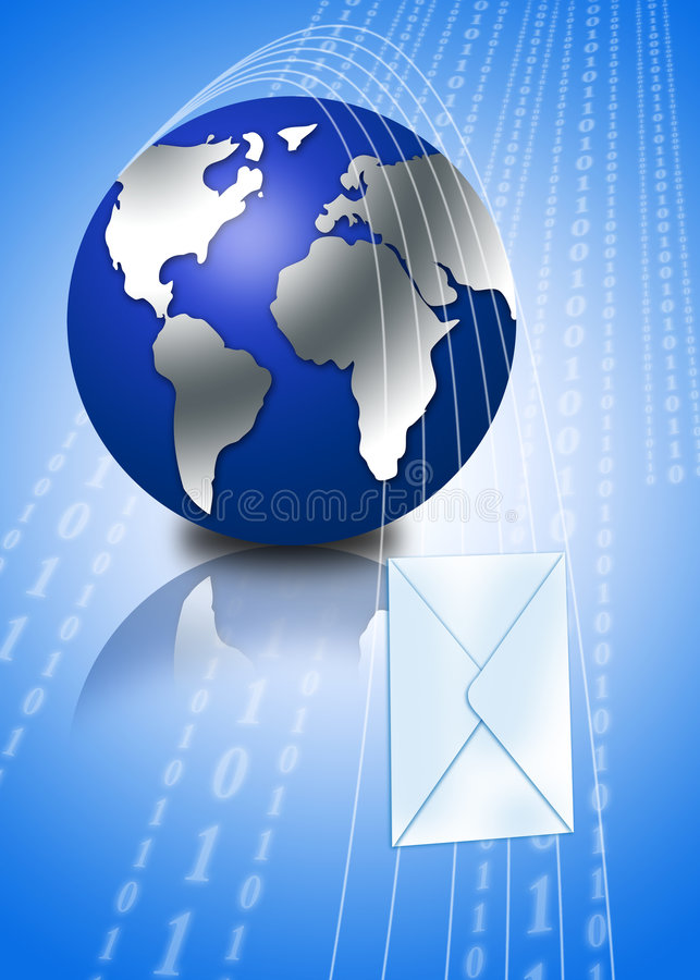 Download 3d Globe With Email Envelope Stock Illustration - Illustration: 2837632