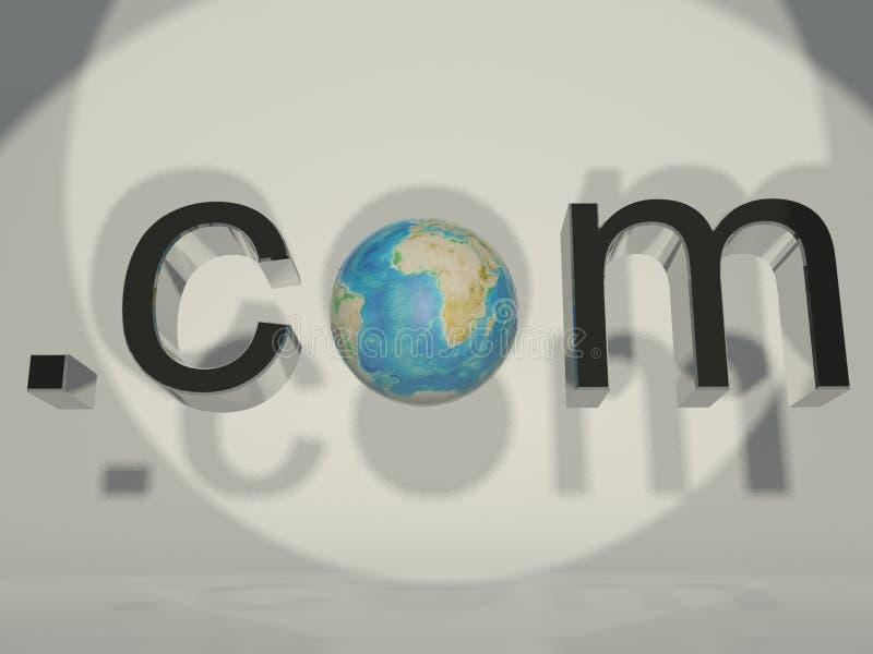 Download 3d Globe And Word Dot Com Stock Photos - Image: 18507053