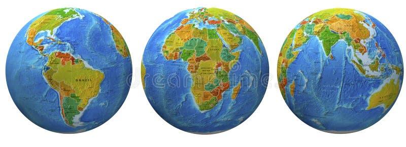 Download 3d globes stock illustration. Illustration of ball, terrestrial - 20280165