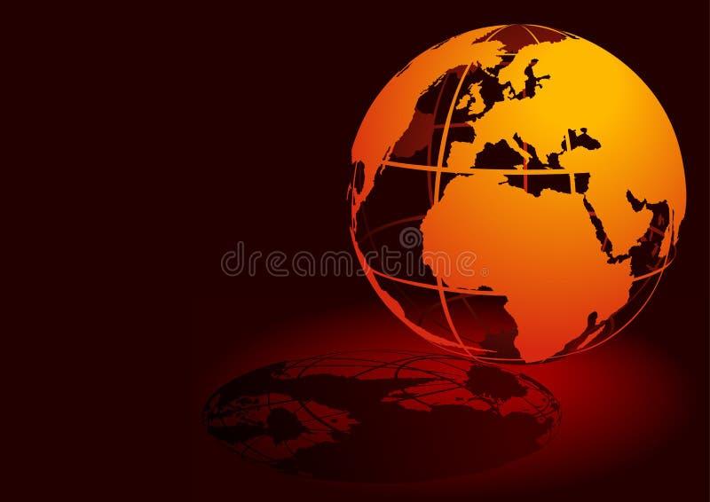 3D globo - rojo stock de ilustración