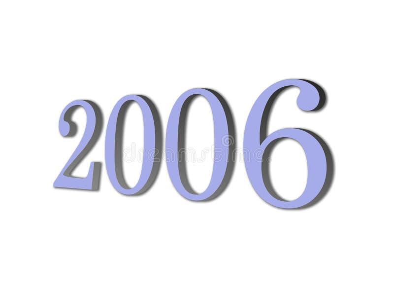 3D gloednieuw jaar 2006 stock illustratie