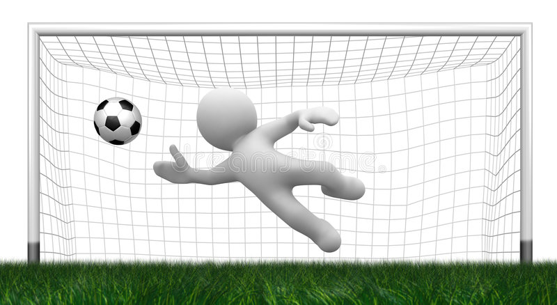 3d goalkeeper stock illustration