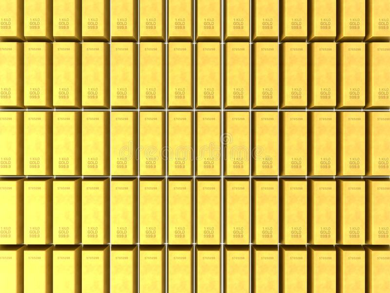 Download 3D gold bars background stock illustration. Image of riches - 16829676