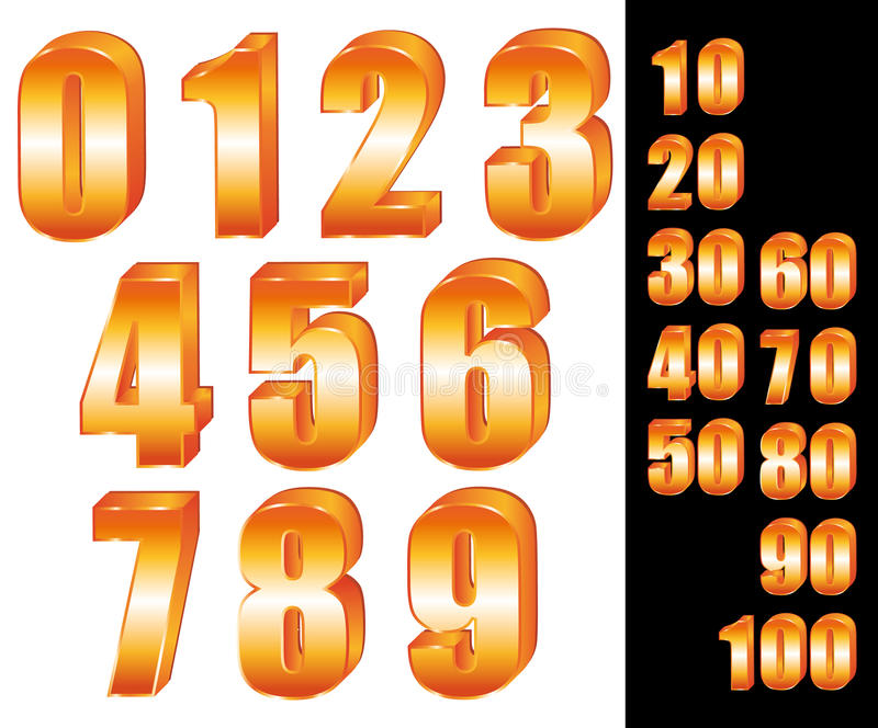 3d Gold Numbers  Stock Vector  Illustration Of Five