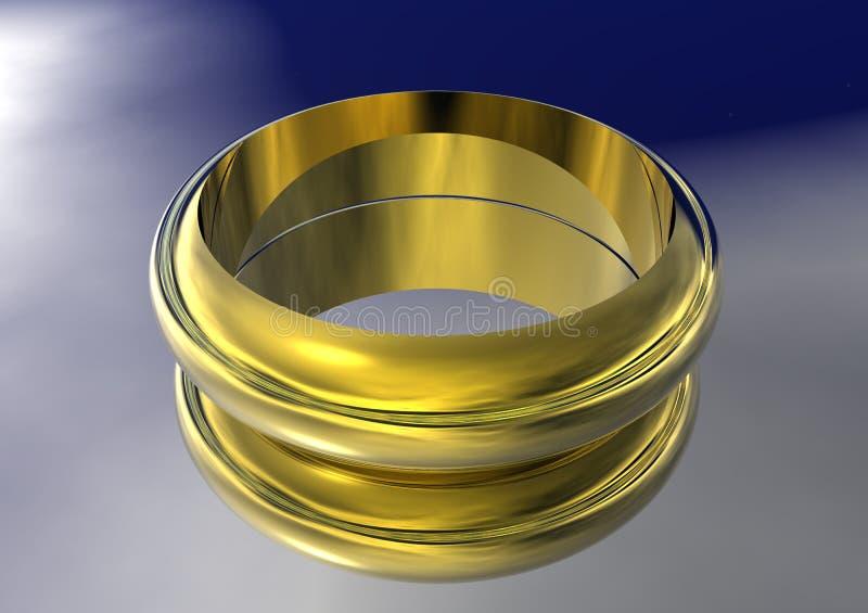 3D Gold Wedding Band Stock Photo