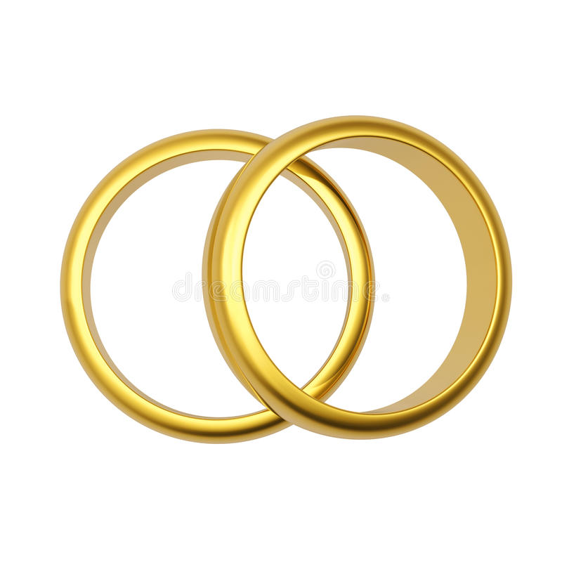 3d gold wedding ring vector illustration