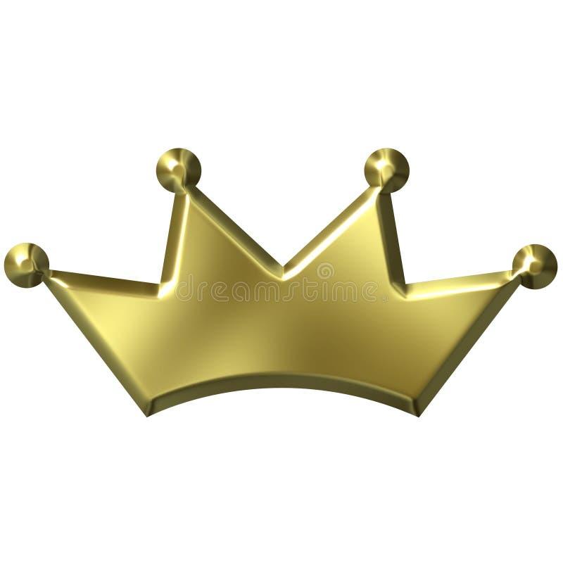 Download 3D Golden Crown stock illustration. Image of history, queen - 3251966