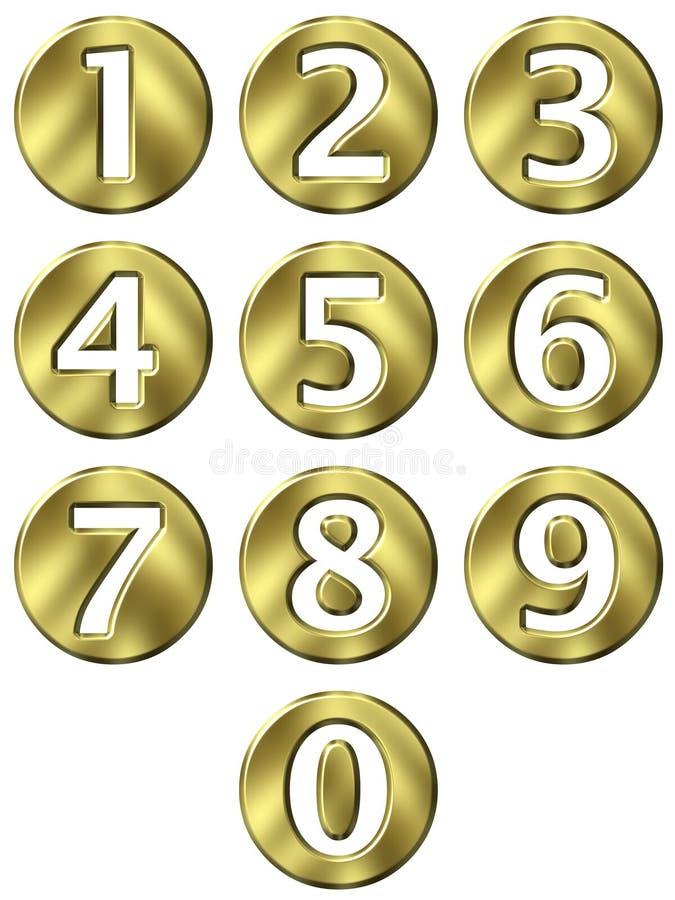 Download 3D Golden Framed Numbers stock illustration. Image of design - 9245059