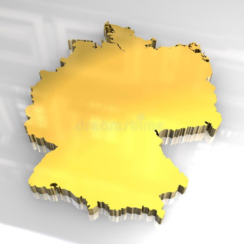 Download 3d golden map of germany stock illustration. Illustration of border - 7187760