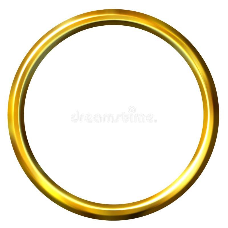 3D Golden Ring royalty free illustration