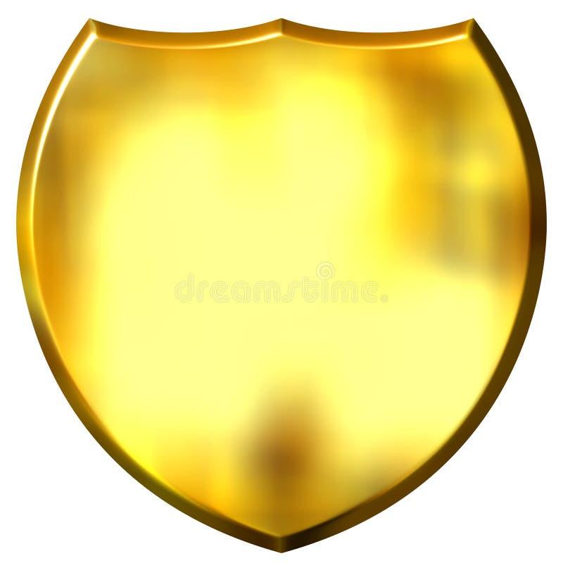 Download 3D Golden Shield stock illustration. Illustration of decoration - 5500615