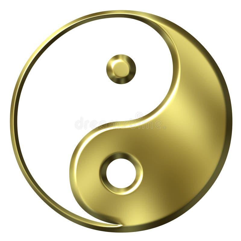 Download 3D Golden Tao Symbol stock illustration. Image of golden - 3052340