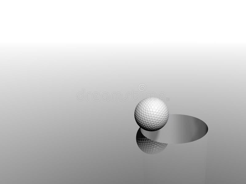 3D golf ball and hole vector illustration