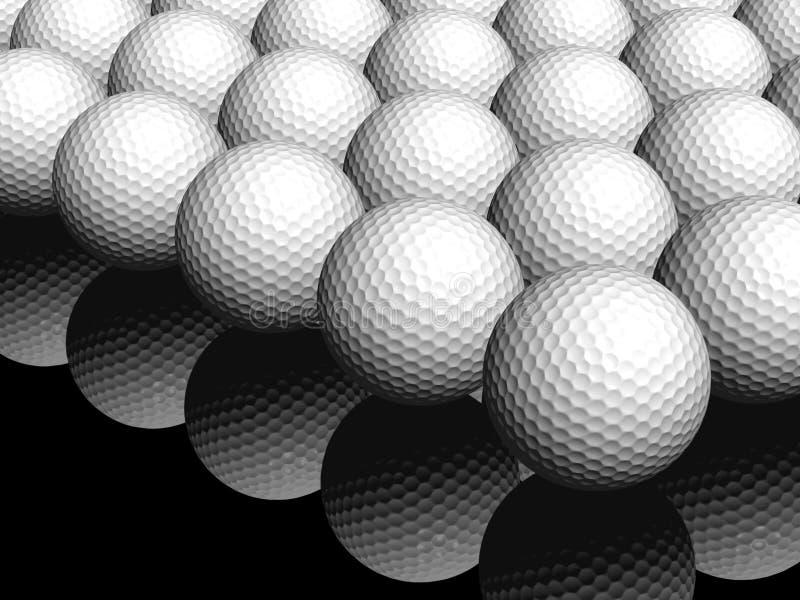 3d golfballen stock illustratie