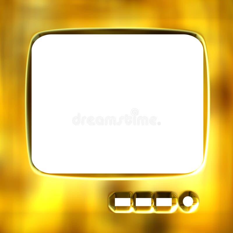 3D Gouden Frame van TV royalty-vrije illustratie