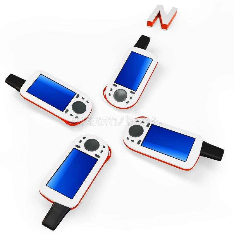 Download 3d gps portable stock illustration. Image of display - 26787821