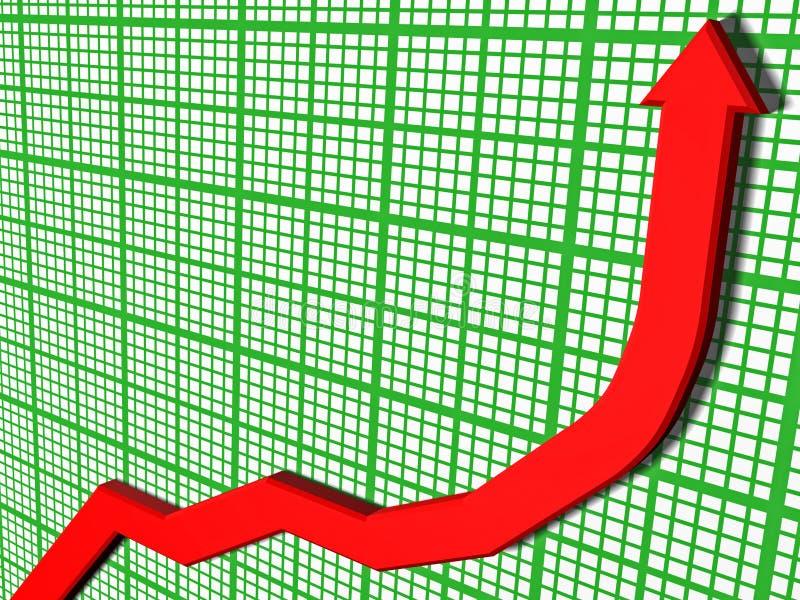 3D gráfico - precios crecientes ilustración del vector