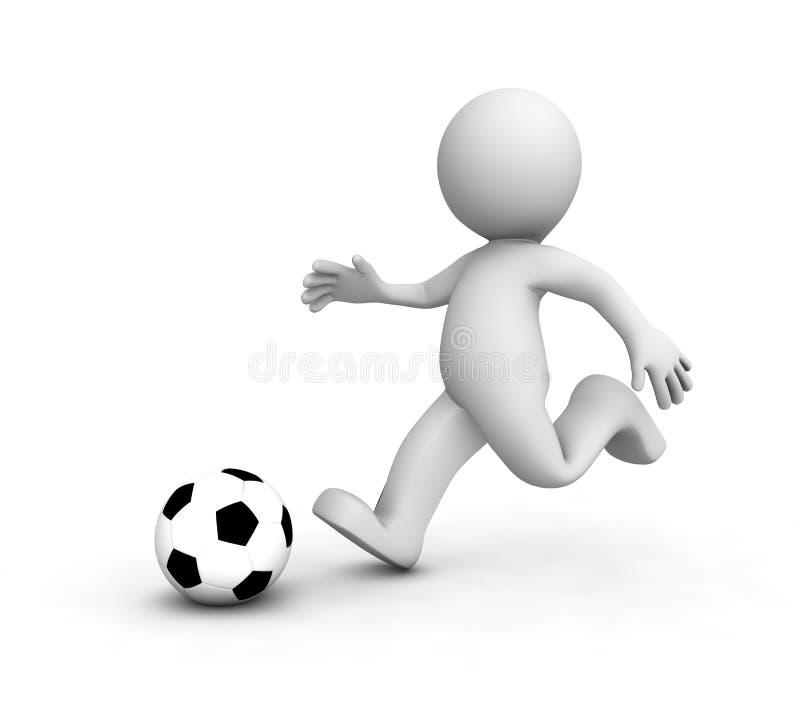 3d gracz w piłkę target2030_1_ piłkę nożną royalty ilustracja