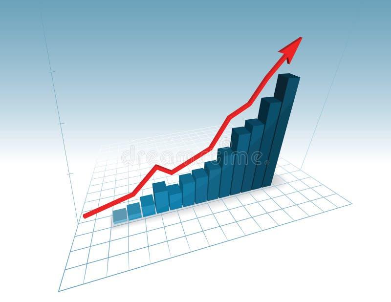 3d grafiek stock illustratie