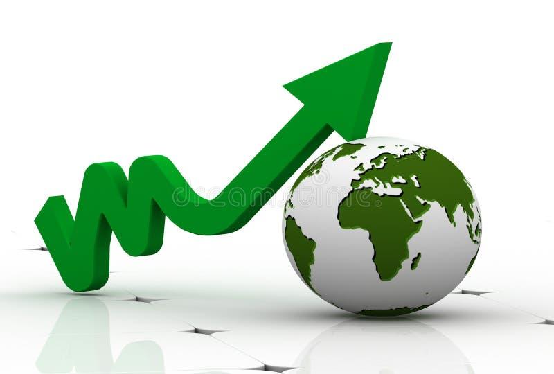 3d grafiek die stijging van winsten of inkomens toont vector illustratie