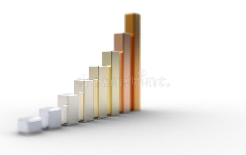 3d grafiek op witte achtergrond vector illustratie