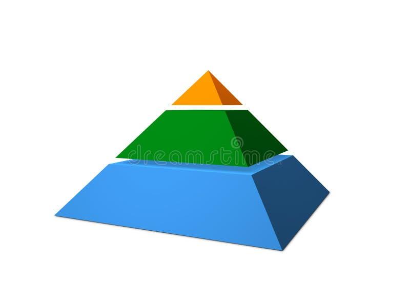 3D Grafiek van de Piramide royalty-vrije illustratie