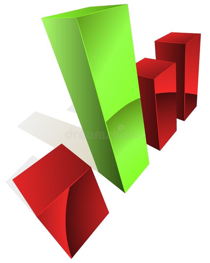 Download 3D graph stock vector. Illustration of market, bars, design - 25566882