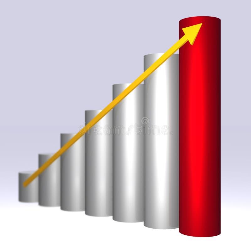 3D ascending graph stock images
